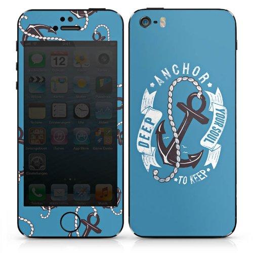 Apple iPhone 6 Case Skin Sticker aus Vinyl-Folie Aufkleber Anker Seefahrer Maritim DesignSkins® glänzend