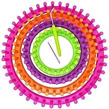 JJPRIME JJOnlineStore – 4 pcs Colorido Redondo DIY para Tejer Knitter Telares Calcetines Bufanda Gorro eléctrica