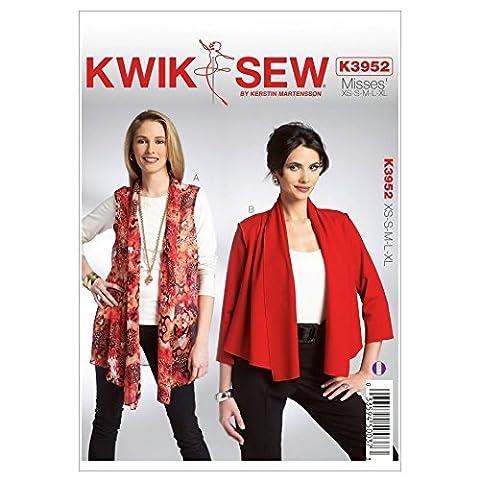 Kwik Sew Schnittmuster 3952 Misses'Weste & Jacke, Größe: One Size