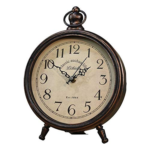 Reloj de Escritorio Reloj de Mesa de Metal de diseño Vintage Salón ...