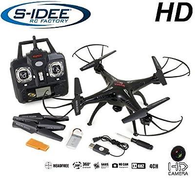 s-idee 01508 Quadrocopter X5SC Explorer Forscher Syma HD Kamera mit Tonaufzeichnung mit Motor-STOPP-Funktion & Akku-Warner, 360° Flip Funktion, Nachfolger vom Syma X5C, 2.4 GHz, 4-Kanal, 6-AXIS Stabilization System