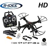 s-idee 17117 Quadrocopter X5SC Pro Explorer Forscher Syma HD Kamera mit Tonaufzeichnung mit Motor-STOPP-Funktion & Akku-Warner, 360° Flip Funktion, Nachfolger vom Syma X5C, 2.4 GHz, 4-Kanal, 6-AXIS Stabilization System