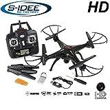 s-idee - Cuadricóptero con cámara, 2.4 GHz, 4 canales y sistema de estabilización (01508)