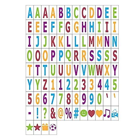 MagiGlow 100 Pastel Colour Letters, Numbers & Symbols for Use