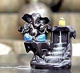 CraftJunction Handcrafted Big Size Lord Ganesha Smoke Backflow Cone Incense Holder Decorative Showpiece