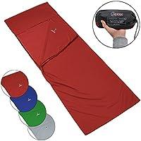 ALPIDEX Polycoton Drap de Sac de Couchage rectangulaire pour Le Camping et Le Voyage