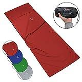 ALPIDEX Polialcotón Forro de la Bolsa de Dormir Pocket Paul Saco Sábana Interior para Saco de Dormir di, Color:Red Fire