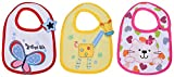 #6: Baby Bucket Soft Cotton Baby Bibs Set of 3 (White)