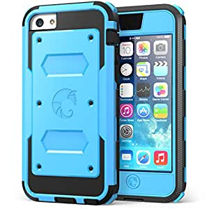 i-Blason Armorbox for Apple iPhone 5C Dual Layer Hybrid Protective Case with Built-in Screen Protector and Impact Resistant Bumpers (Blue, iPhone 5C)