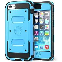 i-Blason teléfono celular caso para iPhone 5C–empaquetado al por menor, azul, iPhone 5 C