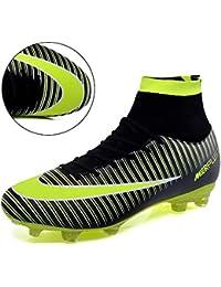 LSGEGO Botas de fútbol para Hombres Zapatos de fútbol con Tacones Altos Zapatos de Entrenamiento con Tachuelas al Aire Libre Zapatillas al Aire Libre Botas Deportivas para Adolescentes