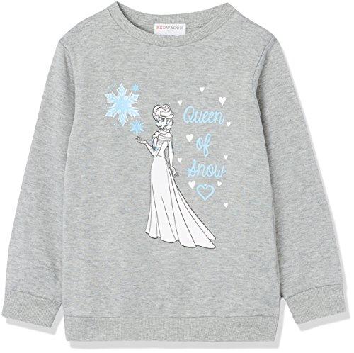 RED WAGON Mädchen Sweatshirt Disney Frozen Elsa, Grau (Grey), 128 (Herstellergröße: 8 Jahre)