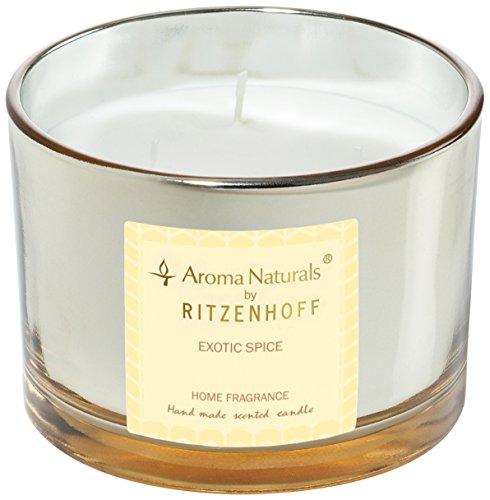 Scheda dettagliata Ritzenhoff Aroma Naturals Luxury Candela profumata, Nero/Giallo, 11 x 11 x 8 cm