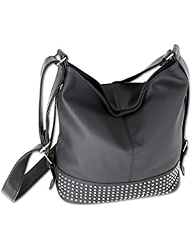 Jennifer Jones Taschen Damen Damentasche Handtasche Schultertasche Umhängetasche Tasche groß 4 Farben (3122) (...