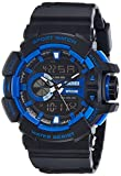 #6: SKMEI Analog-Digital Black Dial Men's Watch-AD1117 (BLK-BLU)
