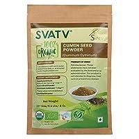 SVATV Cumin Seed Powder (Cuminum Cyminum) 1/2 LB, 08 oz, 227g USDA/EU Certified - Zip Lock Pouch, Food Grade Herb for supplements