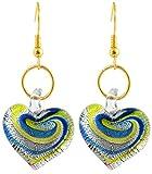 Beadworks Blue Glass Dangle & Drop Earri...