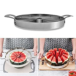 Ksruee Wassermelonen Schneider Watermelon Slicer, Watermelon Schneide 420 Edelstahl Obst Schneiden Slicer More Simply Get 12 Perfect Slices Küche Praktische Werkzeuge