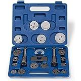 TecTake Set de 22 piezas de reposicionador de pistones de freno con 2 árboles Reposicionador con maletín azul