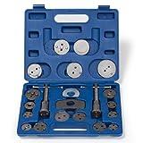 TecTake Dispositif de remise à zéro coffret repousse-piston pour étrier de frein Set 22 pièces avec 2 bobines avec mallette en bleu