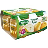 Blédina petits pots pomme poire 4x130g dès 4/6 mois - ( Prix Unitaire ) - Envoi Rapide Et Soignée