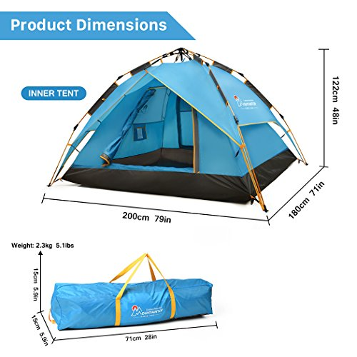 Mountaintop 2-3 Persons Automatic Pop Up Tent/Instant ...  sc 1 st  UK Sports Outdoors C&ing Hiking Jogging Gym fitness wear Yoga & Mountaintop 2-3 Persons Automatic Pop Up Tent/Instant Tent/Family ...