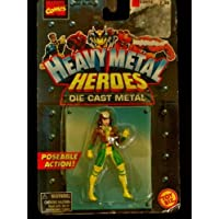 Heavy Metal Heroes Die Cast Metal Rogue Superhero (Poseable Action) by Marvel Comics/Toy Biz
