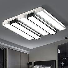Luces de sala rectangular simple y moderno hogar LED Luz Lámpara de techo dormitorio cálido y romántico de iluminación creativa 750 * 480 mm