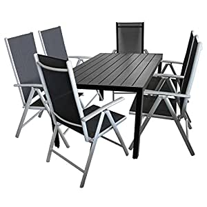 7tlg gartengarnitur balkonm bel terrassenm bel set sitzgruppe 6x hochlehner. Black Bedroom Furniture Sets. Home Design Ideas