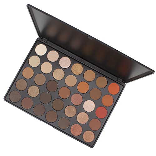 Lover Bar 35 Warm Colour Eyeshadow Palette - Beauty Cosmetics Tools - Makeup Waterproof Nature Glow Matte Eye Shadows Kit - Professional Shimmer Eye Shadow Pallets with Eyes Make Up Brushes Set (35O)