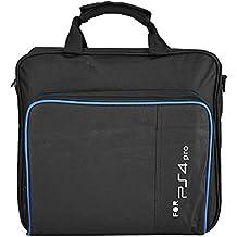 Fosa PS4 Pro Bolsa de transporte, resistente al agua, a prueba de golpes, sistema de juegos de protección, funda de viaje para PlayStation 4 Pro sistema y accesorios