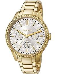 Esprit Damen-Armbanduhr Analog Quarz Edelstahl beschichtet ES107132006