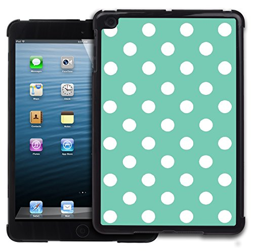 Graphic4You Polka Punkt Dots Muster Design Harte Hülle Case Tasche Schutzhülle für Apple iPad Mini 1 / 2 / 3 (Tiffany Blau) (Ipad Tiffany Mini Case 3)