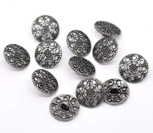 the-bead-and-button-box-10-filigree-metal-sewing-buttons-round-antique-silver-flower-pattern-carved-