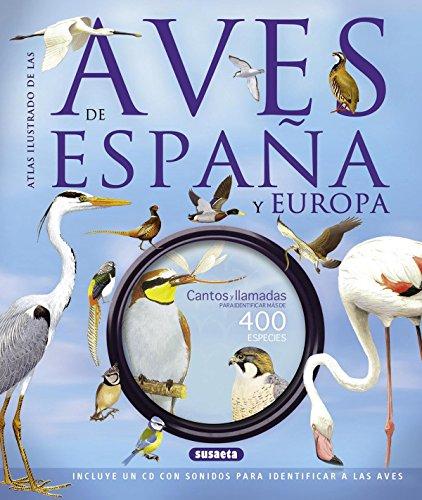 Portada del libro Atlas ilustrado de las aves de España y Europa con CD