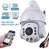 SUNBA 1080P HD, 20X Optisches Zoom, 4.7 ~ 94.0mm, 2.0 Megapixels, IR-Cut Nachtsicht, Wasserdicht,Im Freien PTZ IP Netzwerk Überwachung Kamera mit ONVIF (507-POE)