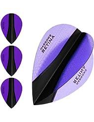Plumas para dardos Harrows Retina-X 5 juegos - (15) - - extrafuerte de pera 100 micras - morado