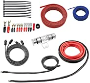 ROCKRIX True 4 Gauge Complete AMP Wiring Kit Amplifier Installation Helps You Make Connections and Brings Powe