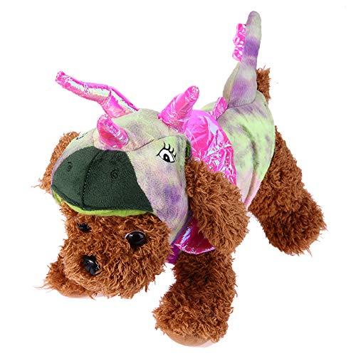 Matefielduk Kleidung für Haustiere Haustier Katze Warme Hund SAMT Koralle Kostüme Drachen Kostüme Halloween (Rosa L) (Rosa Drachen Kostüm)