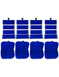 Afrose Combo 4 Pc Blue Earring Folder And 4 Pc Blue Ear Ring Box Vanity Case