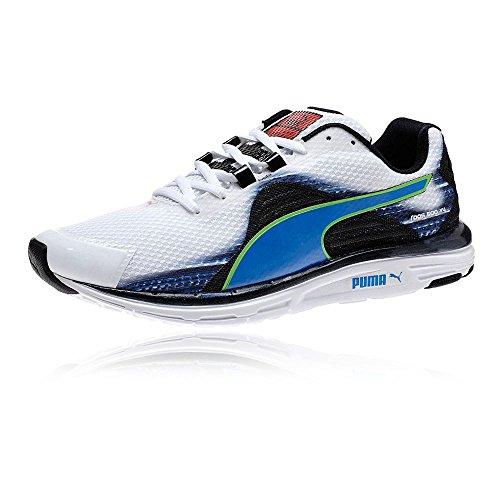 PUMA FAAS 500 v4 2015 Herren Laufschuhe Joggingschuhe Running Shoes 187525(WHITE/BLUE-BLACK/GREEN - weiss, blau, schwarz, grü,46,5) (Schuhe Running Männer Puma 2015)