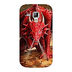 Red Fantastic Dragon Back Case Cover for Galaxy S Duos