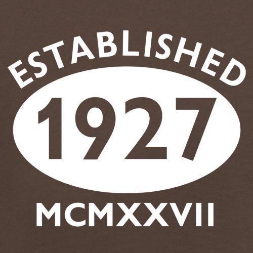Gegründet 1927 Römische Ziffern - 90 Geburtstag - Herren T-Shirt - 13 Farben Schokobraun
