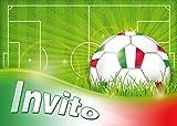 Edition Colibri 10 inviti per Festa di Compleanno; Motivo: Gioco del Calcio / inviti di Compleanno per Bambini / in Italiano (10960 IT)