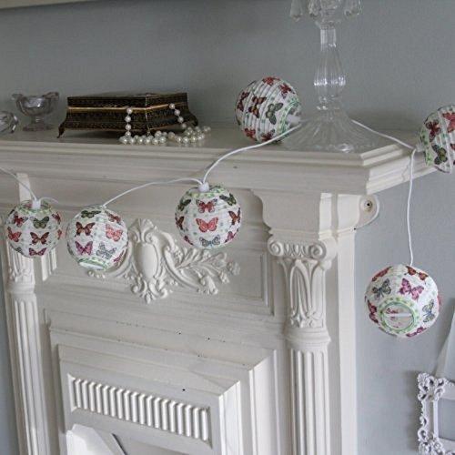 Preisvergleich Produktbild 10 er Set Teelichter,  Schmetterlinge aus Papier,  für Schlafzimmer,  Mädchen,  Geschenk,  2 Stück