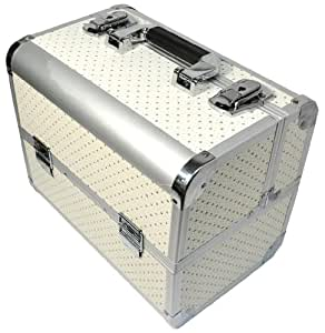Beauties Factory White-Star Hard Beauty Outdoor Nail Art Case Box