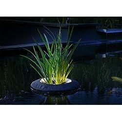 Velda 123585 Treibende Pflanzinsel mit LED-Beleuchtung für Teiche, 2950 Kelvin 2,2 W 187 Lumen, Nicht dimmbar, Floating Plant Light