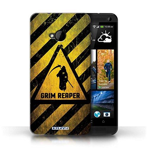 Coque de Stuff4 / Coque pour HTC One/1 M7 / Feu/Inflammable Design / Signes de Danger Collection Décès/Faucheuse