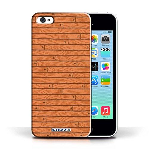 Kobalt® Imprimé Etui / Coque pour Apple iPhone 5C / Bois conception / Série Motif Bois Orange