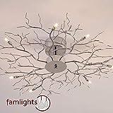 famlights Deckenlampe Äste, 700 mm, chrom | Schlafzimmer-Deckenleuchte